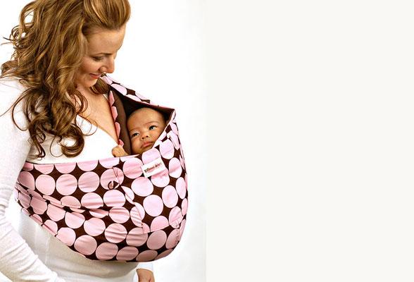 Слинг для новорожденного с кольцами своими руками